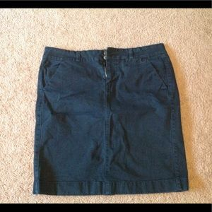 Old navy denim pencil skirt